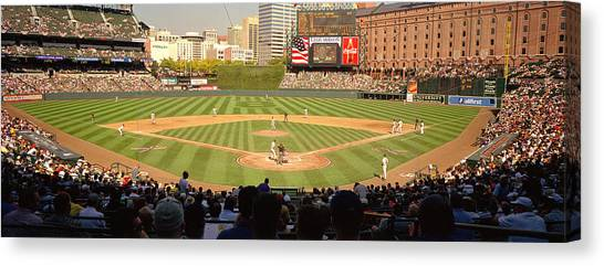 Orioles Canvas Print - Camden Yards Baseball Game Baltimore by Panoramic Images