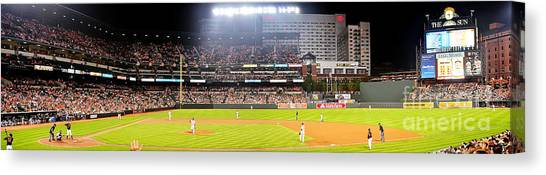 Orioles Canvas Print - Camden Yards by Mike Baltzgar