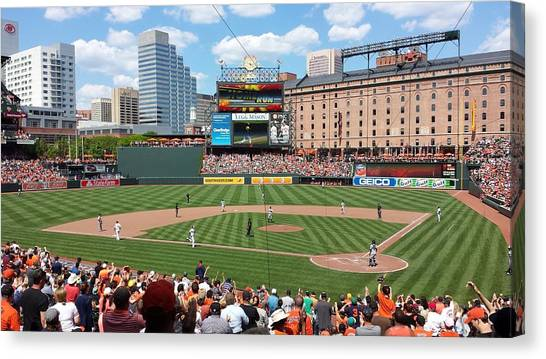 Baltimore Orioles Canvas Print - Camden Yards by Ross Ansel