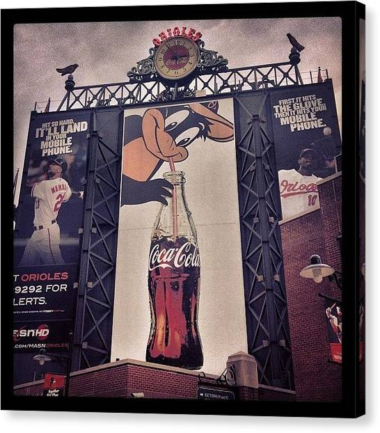 Orioles Canvas Print - #camdenyards #birdland #orioles by Mims Katy
