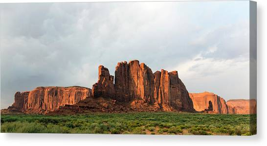 Sandy Desert Canvas Print - Camel Butte by Michael Szoenyi