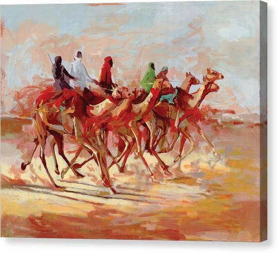 Camel Race Canvas Print