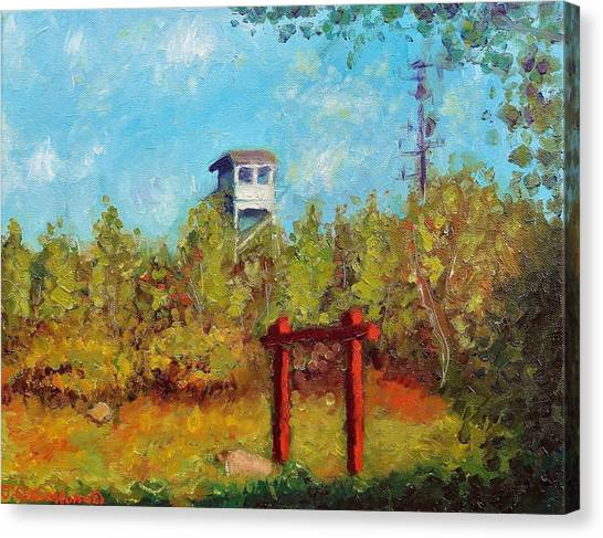 Camel Top Fire Tower Canvas Print