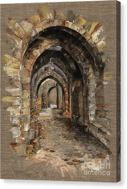 Tunnels Canvas Print - Camelot -  The Way To Ancient Times - Elena Yakubovich by Elena Yakubovich