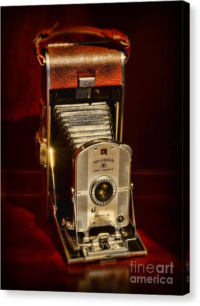 Vintage Polaroid Canvas Print - Camera - Vintage Polaroid Land Camera Model 95 by Paul Ward