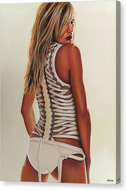 Teachers Canvas Print - Cameron Diaz Painting by Paul Meijering