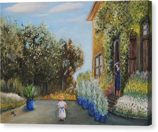 Camille And Jean Monet Canvas Print
