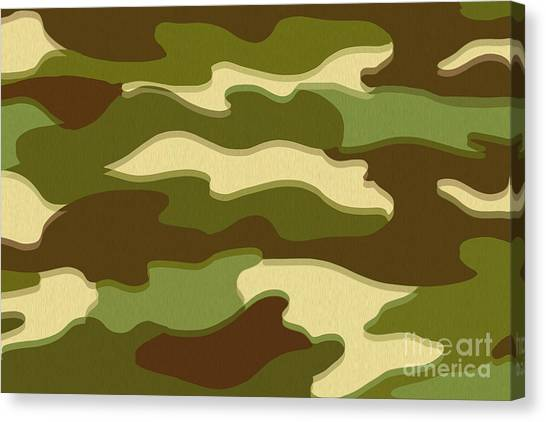 Green Camo Canvas Print - Camo by Bruce Stanfield