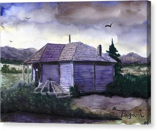 Camp Creek School Watercolor Canvas Print