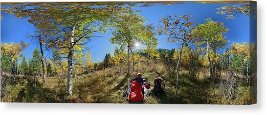 Teton National Forest Canvas Print - Camper Waking Up On A Sunny Morning by Johnathan Ampersand Esper