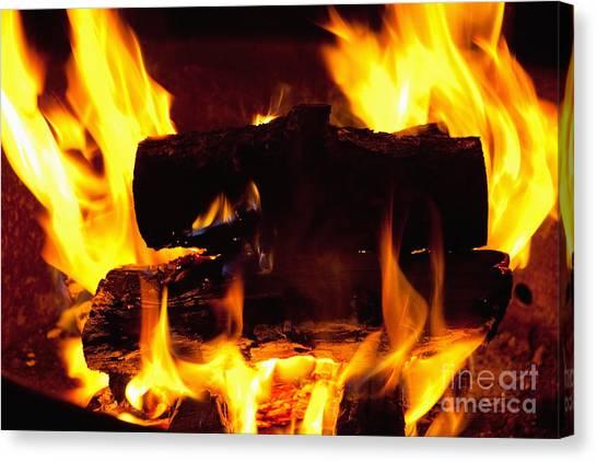 Campfire Burning Canvas Print