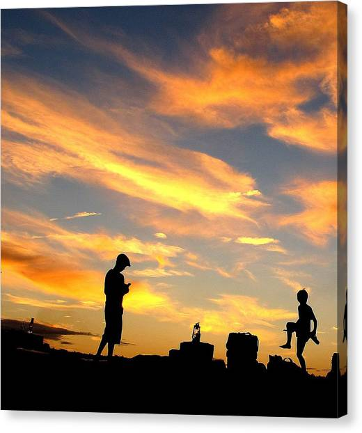 Camping In Neverland Canvas Print