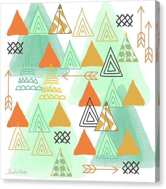 Triangles Canvas Print - Camping by Linda Woods