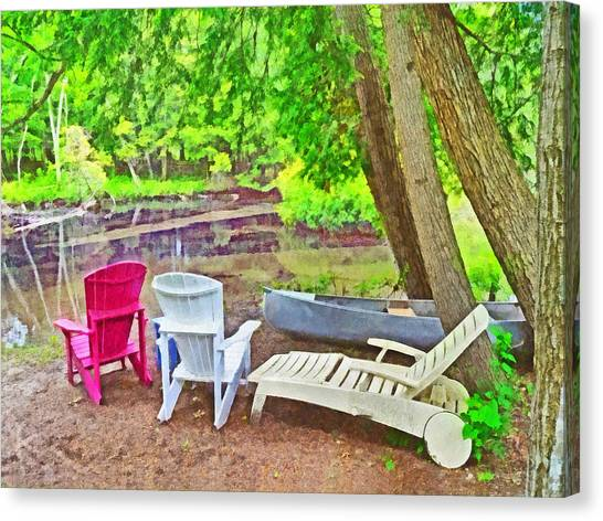 Camping On The Crystal River Canvas Print