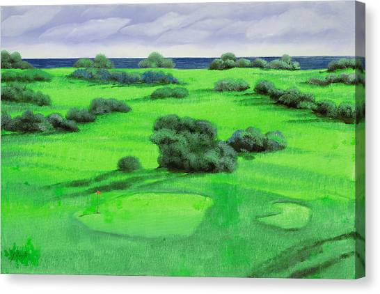 Golf Canvas Print - Campo Da Golf by Guido Borelli