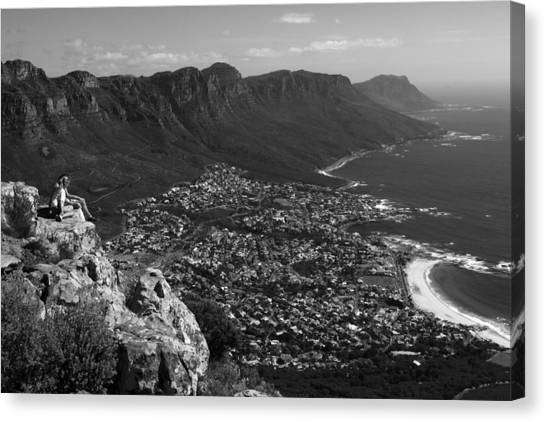 Camps Bay View Cape Town Canvas Print