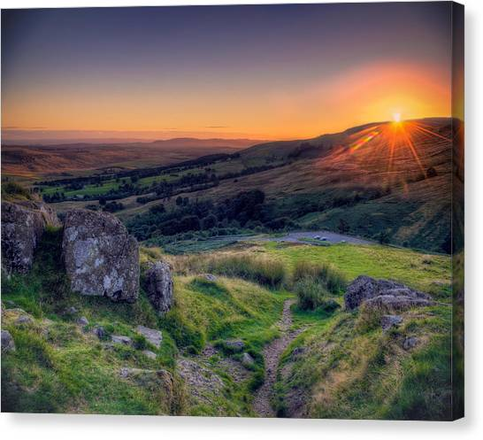 Campsies Sunset In Scotland Canvas Print
