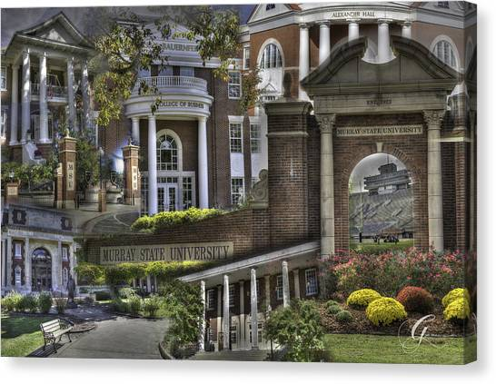 Murray State University Canvas Print - Campus Life Murray State University by Gina Munger