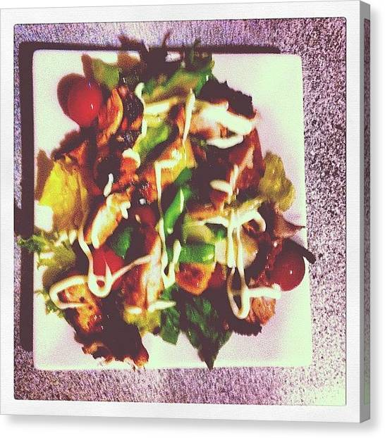 Lettuce Canvas Print - Can Cook-chicken Salad #chickensalad by Rom Tuohey