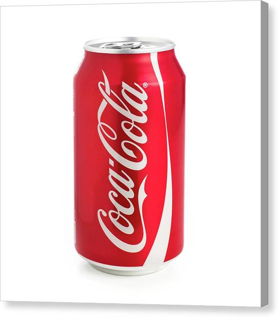 Can Of Coca Cola Canvas Print by Science Photo Library