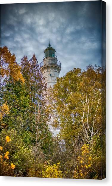 Cana Island Lighthouse II By Paul Freidlund Canvas Print