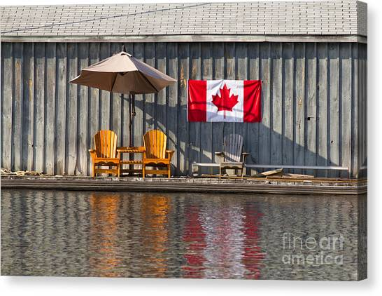 Canada Day In Muskoka Canvas Print