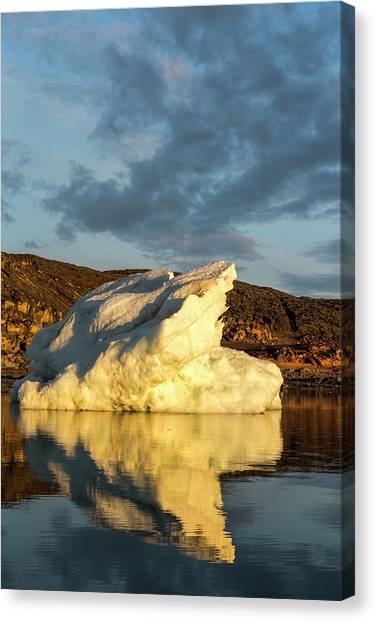 Nunavut Canvas Print - Canada, Nunavut Territory, Midnight Sun by Paul Souders