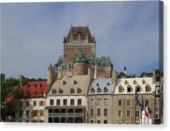 Canada, Quebec City, Chateau Frontenac Canvas Print by Buena Vista Images