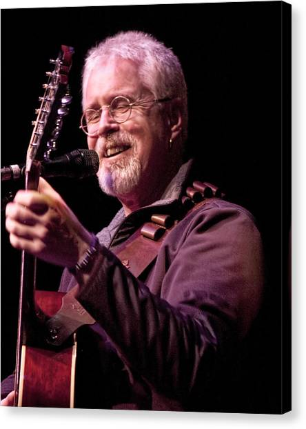 Folk Singer Canvas Print - Canadian Folk Rocker Bruce Cockburn by Randall Nyhof