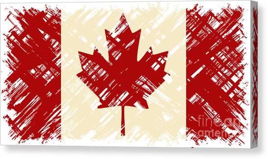 Canadian Grunge Flag. Vector Canvas Print by Khvost