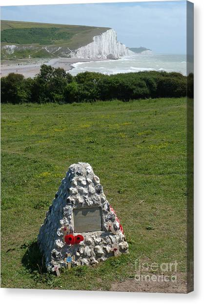 Canadian Memorial - Cuckmere Canvas Print by Phil Banks