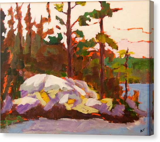 Canadian Shield Haliburton Canvas Print by Keith Thirgood