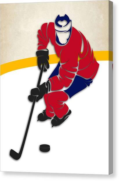 Montreal Canadiens Canvas Print - Canadiens Hockey Rink by Joe Hamilton