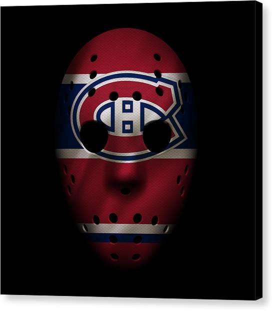 Montreal Canadiens Canvas Print - Canadiens Jersey Mask by Joe Hamilton