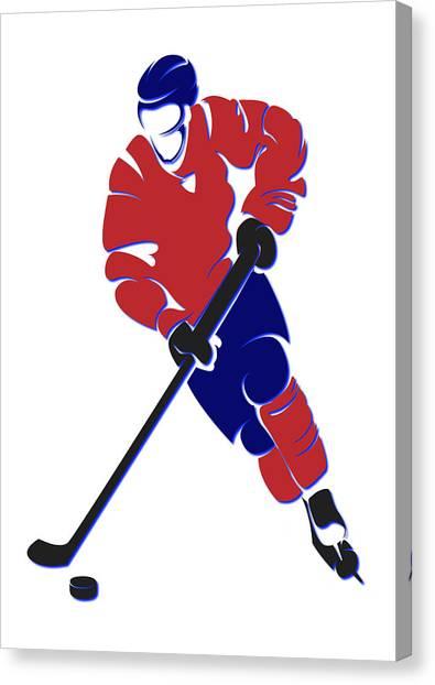 Montreal Canadiens Canvas Print - Canadiens Shadow Player by Joe Hamilton