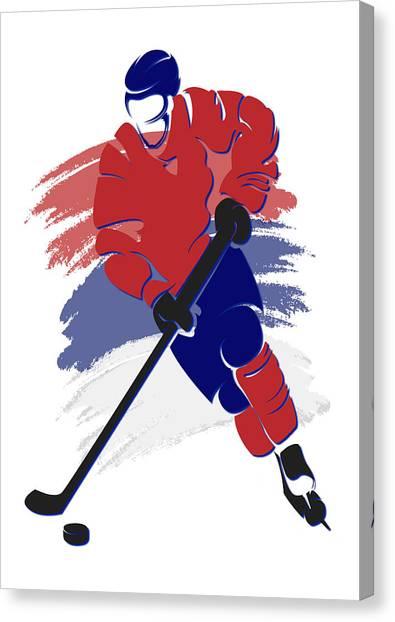 Montreal Canadiens Canvas Print - Canadiens Shadow Player2 by Joe Hamilton