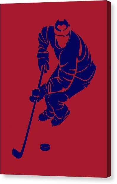 Montreal Canadiens Canvas Print - Canadiens Shadow Player3 by Joe Hamilton