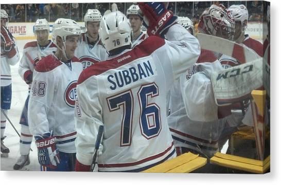 Canvas Print - Canadiens Win by Scott Decker