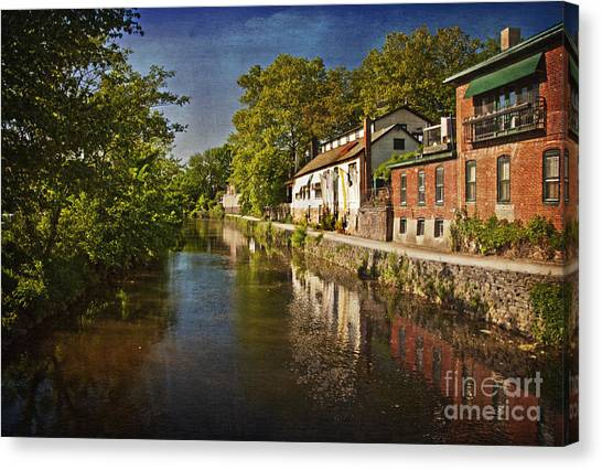 Canal Along The Porkyard Canvas Print