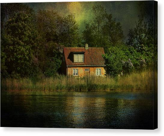 Canal Cottage Canvas Print