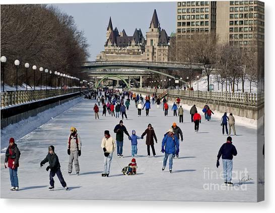 Canal Skate I Canvas Print