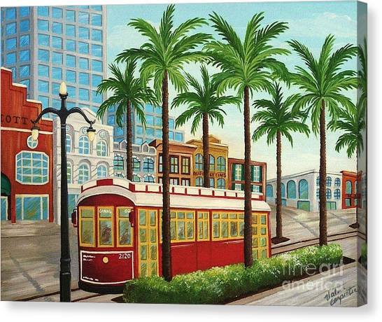 Canal Street Car Line I I Canvas Print