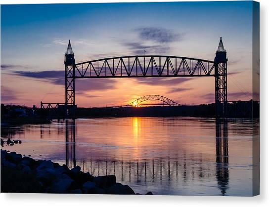 Canal Sunrise Canvas Print