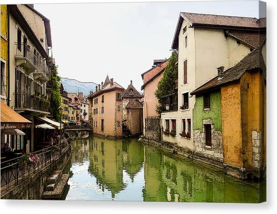 Canal View Number 1 Annecy France Canvas Print