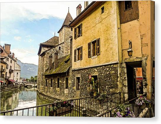 Canal View Number 2 Annecy France Canvas Print