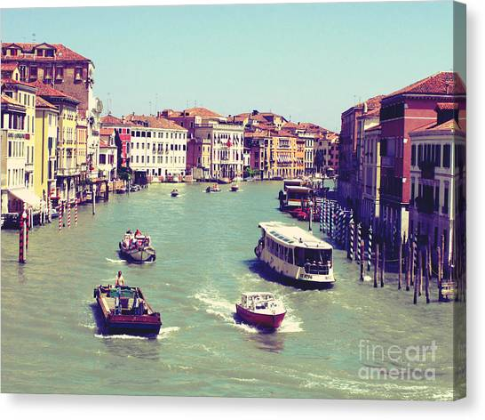 Canale Grande Venice Italy Canvas Print by Ernst Cerjak
