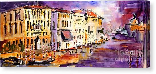 Canale Grande Venice Italy Canvas Print