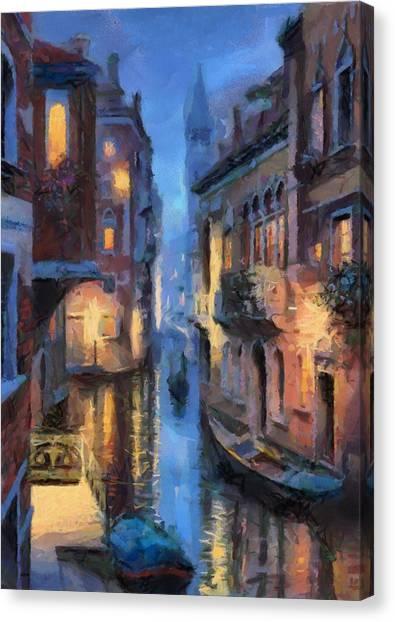 Canale Venice Canvas Print