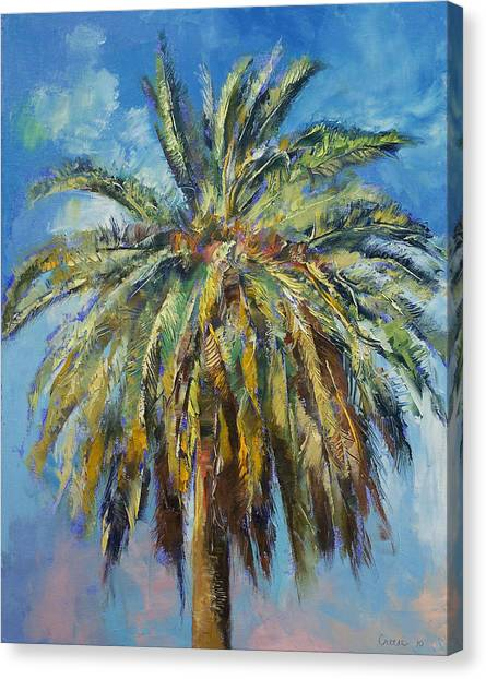 Trees Canvas Print - Canary Island Date Palm by Michael Creese