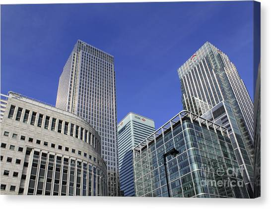 Canary Wharf London Canvas Print